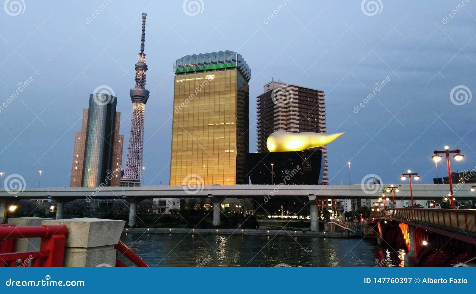 Tokyo nach Sonnenuntergang