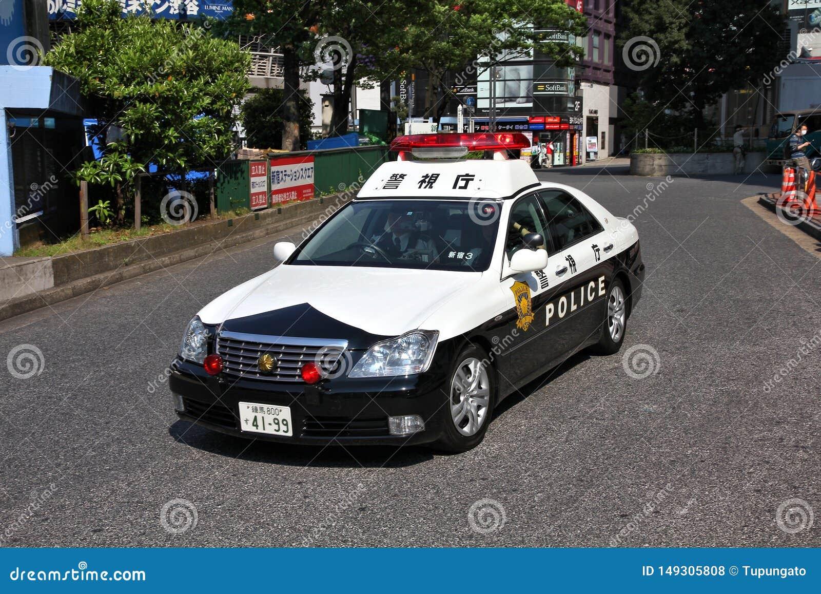 Tokyo police car editorial stock photo. Image of japan ...