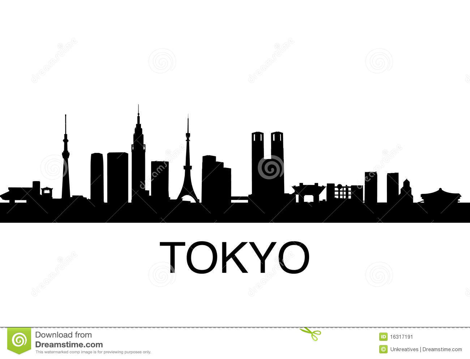 tokyo skyline stock image image 16317191 skyscraper clipart free skyscraper clipart border