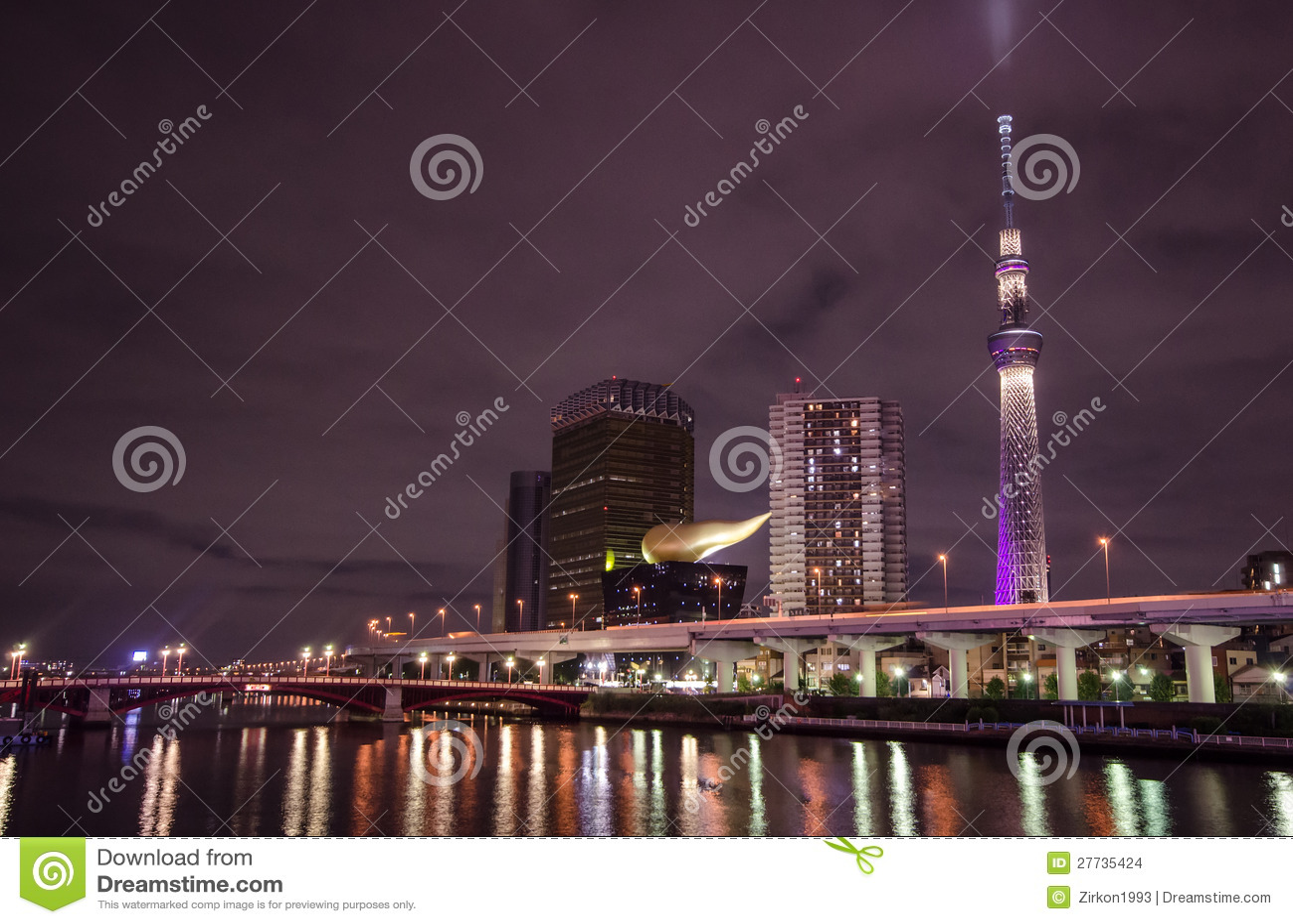 Tokyo skytree nachts