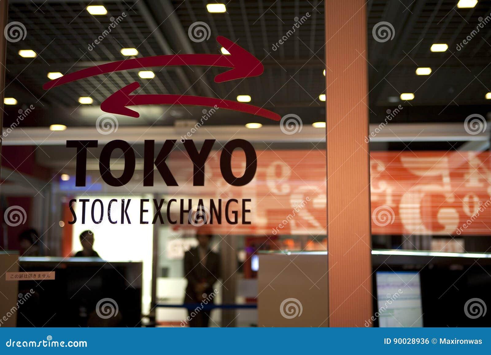 Tokyo Stock Exchange editorial photo  Image of topix - 90028936