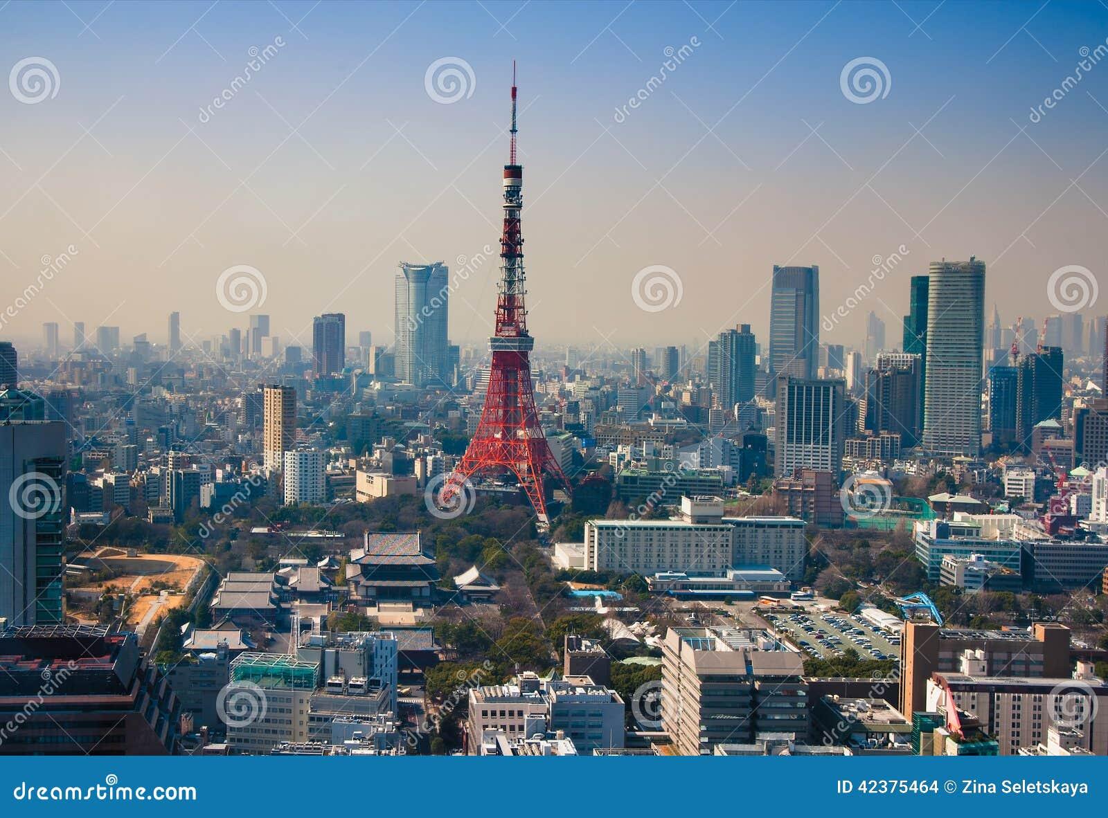 Tokyo Tower In Minato Ward Stock Photo - Image: 42375464