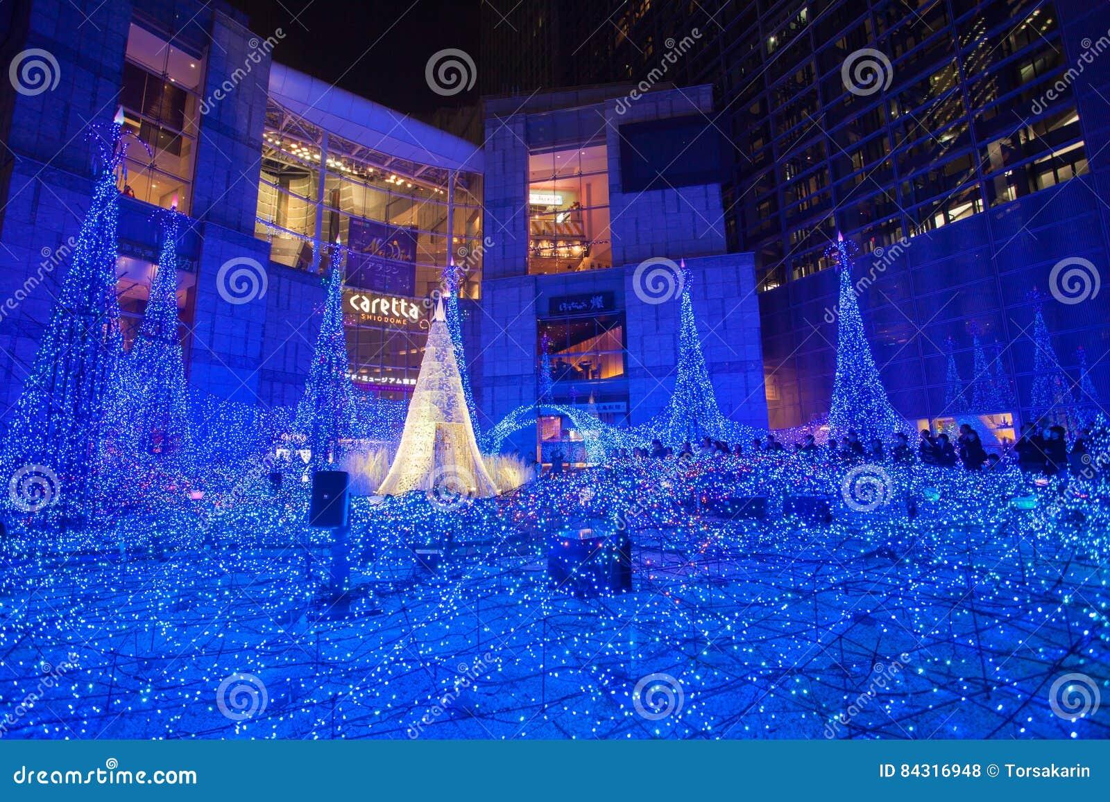 tokyoweihnachten und wintersaison beleuchtungen bei