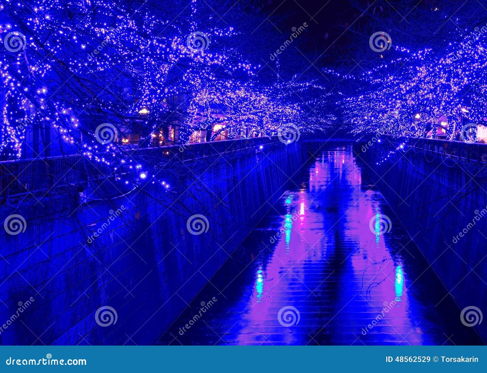 Blaue Weihnachtsbeleuchtung.Tokyo Weihnachtsbeleuchtung Stockbild Bild Von Besichtigung Stadt