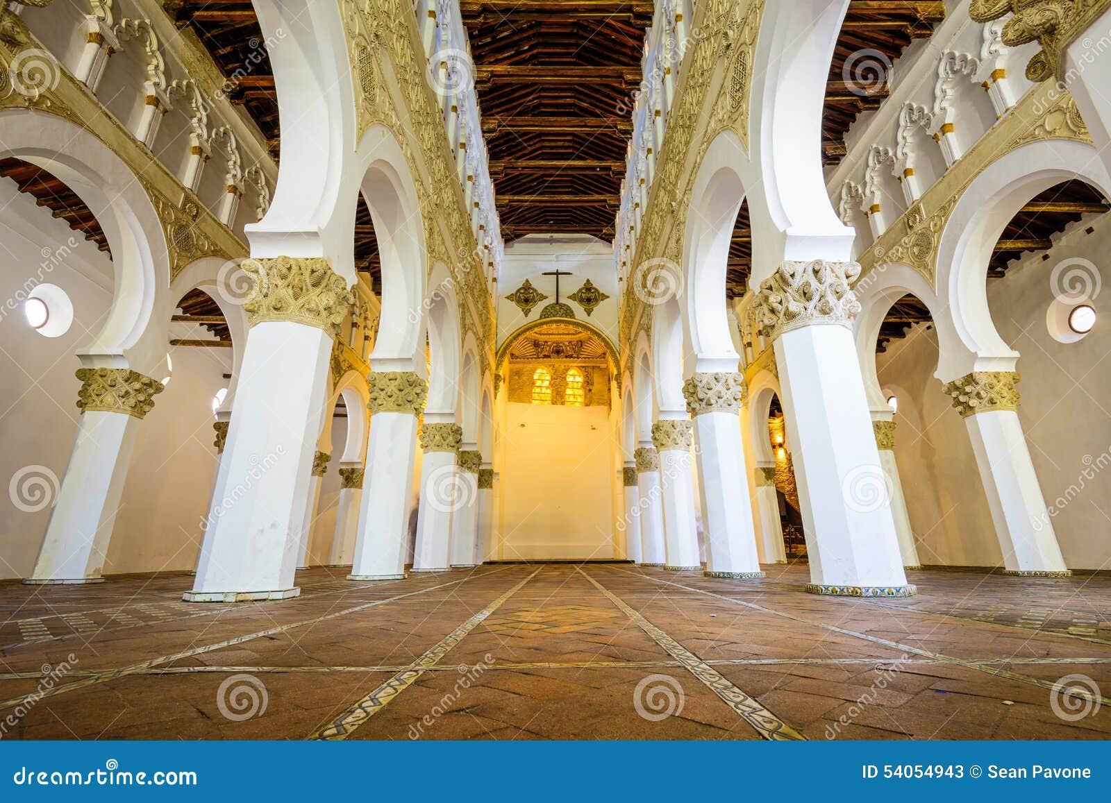 Toledo At Santa Maria La Blanca Church Editorial Stock ...