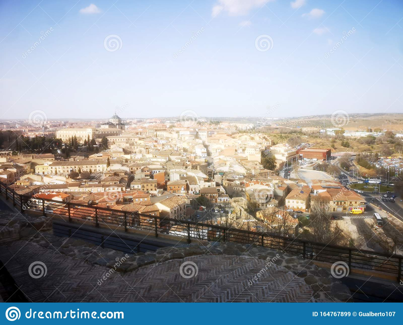 Panoramic View Of The City Of Toledo Spain Editorial Stock Image