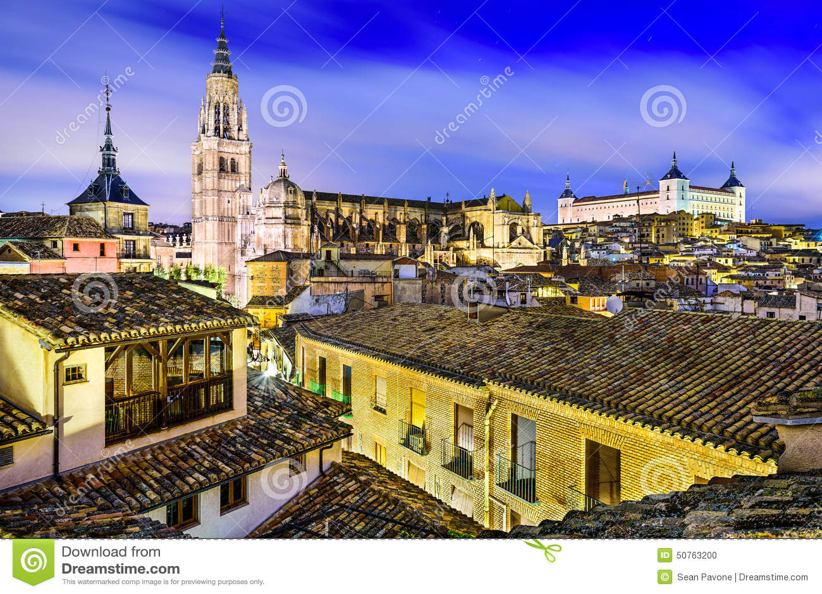 Toledo, Spain Old City Stock Photo - Image: 50763200