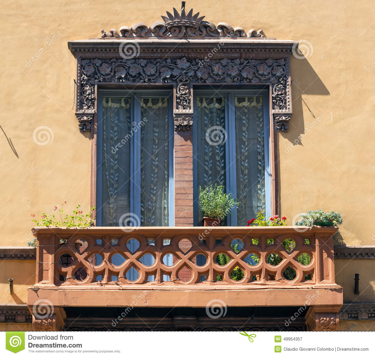 Tolentino marches italy stock image image of italian for Classic house plants