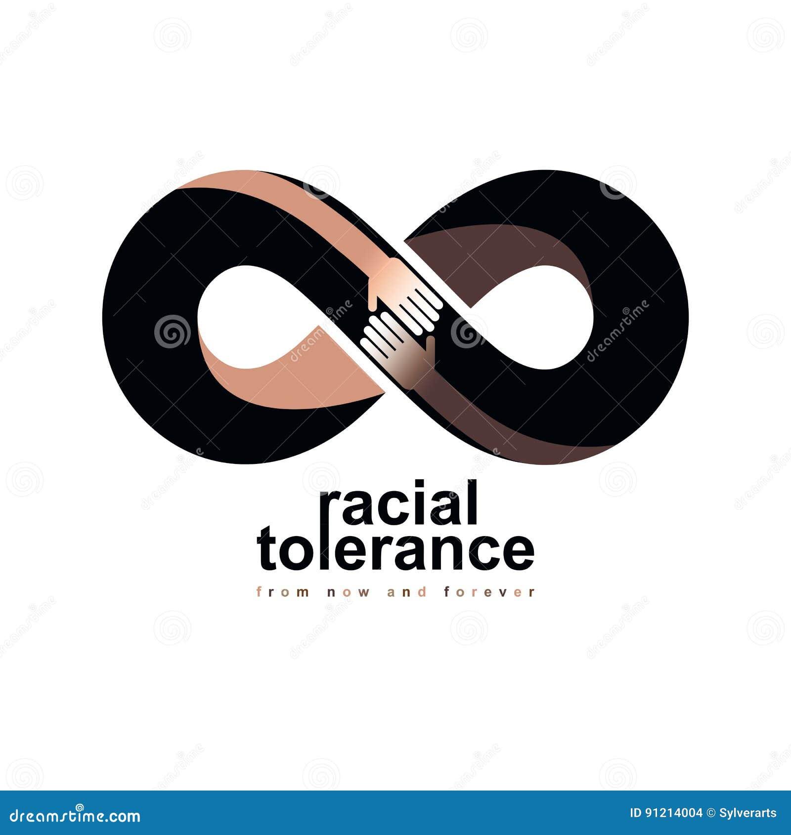 Tolerancia racial entre el símbolo conceptual de diversas naciones,