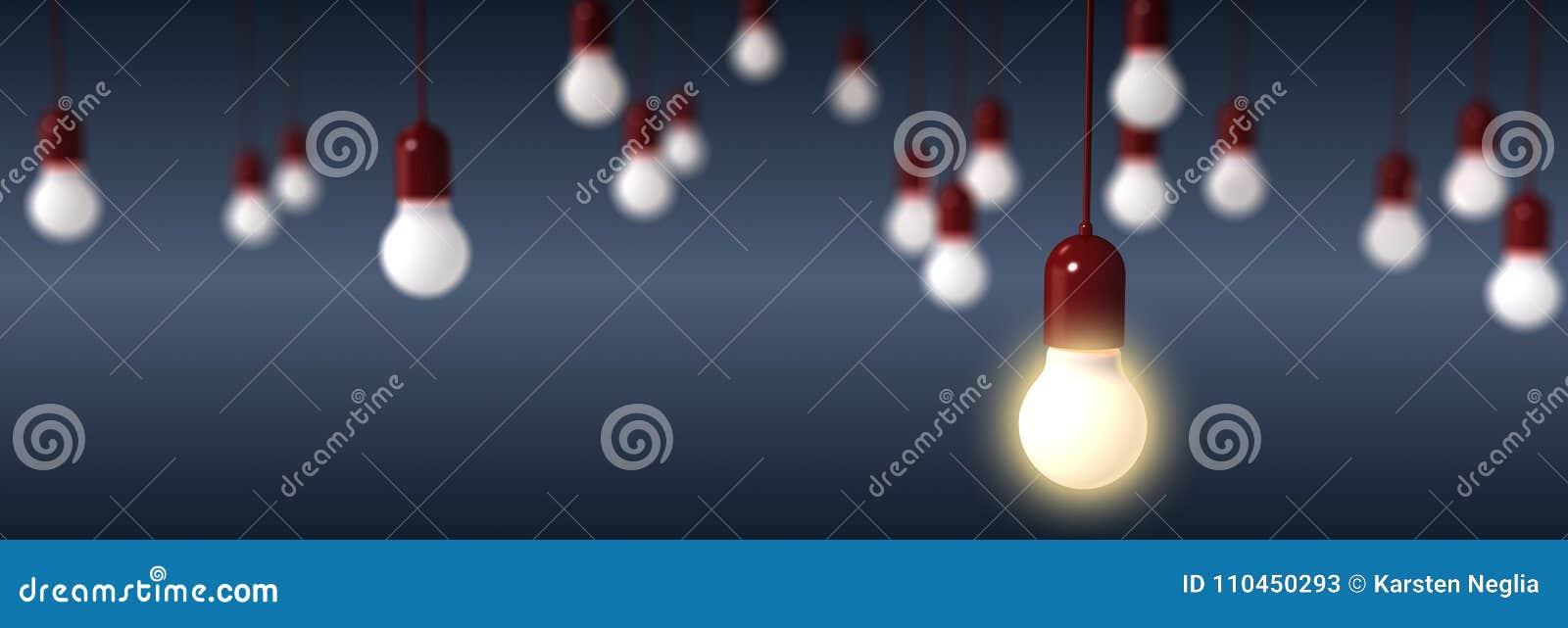 Tolkning av ljusa kulor på blå bakgrund
