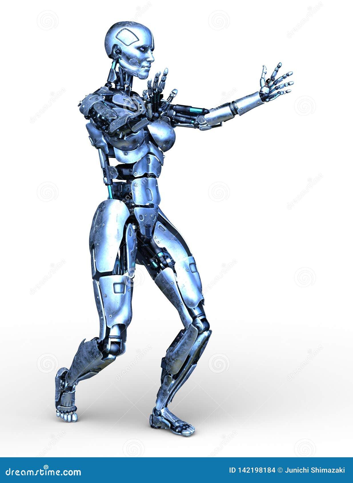 Tolkning för 3D CG av roboten