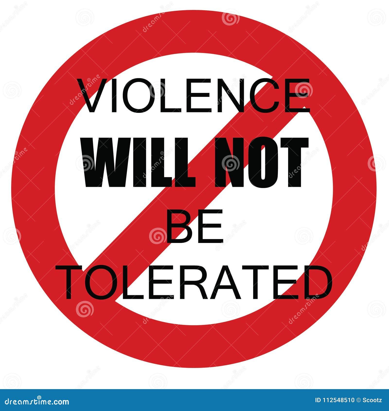 Tolleranza zero di violenza