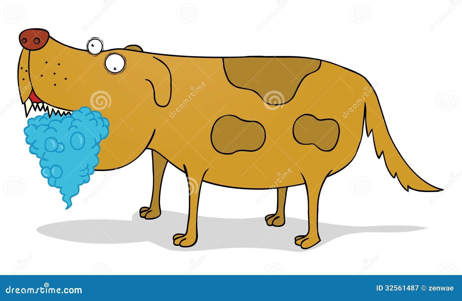 Tollwütiger Hund Vektor Abbildung Illustration Von Karikatur 32561487