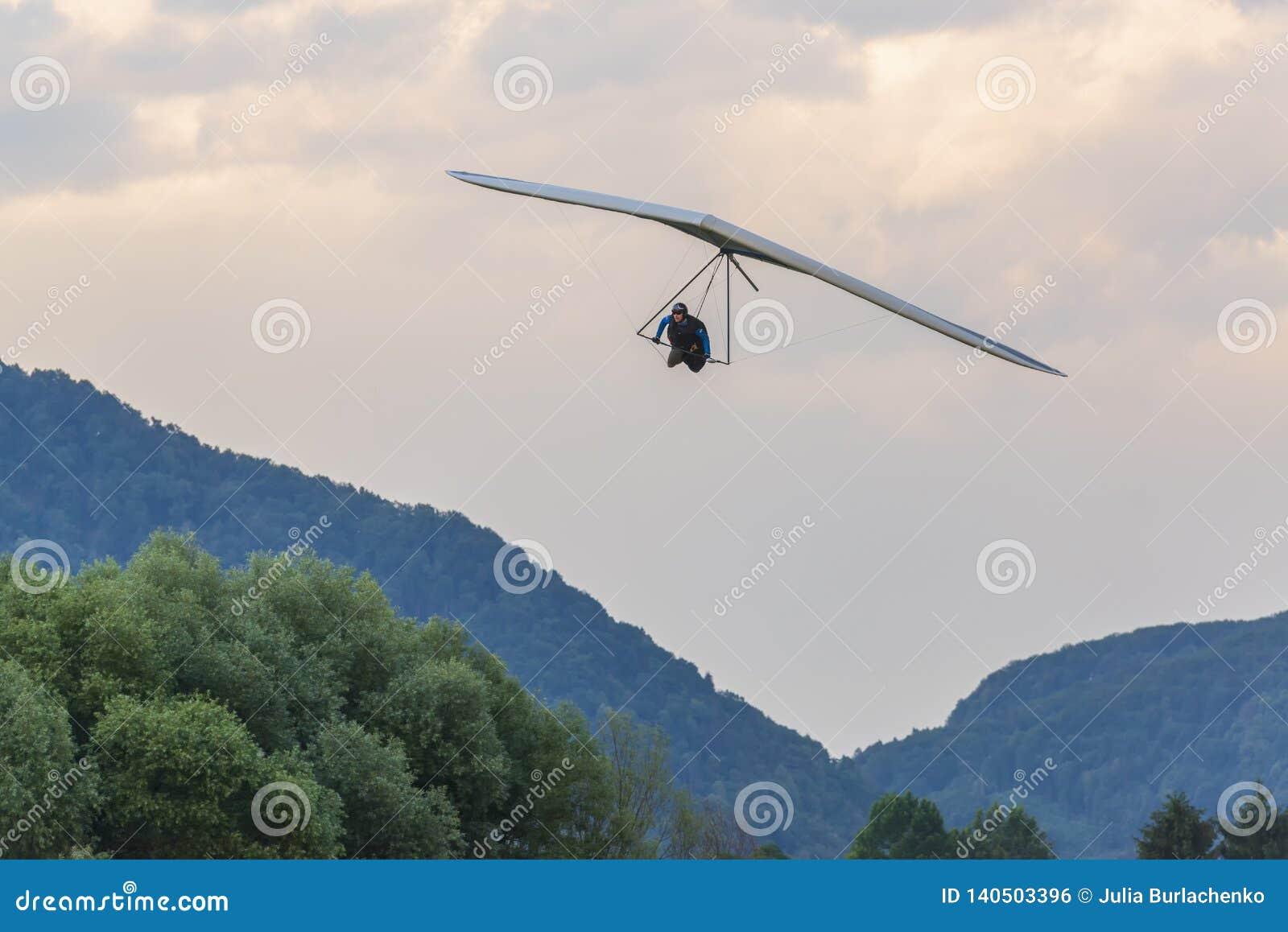 2018-06-30 Tolmin, Slovenia  Hang Glider Pilot Approaches