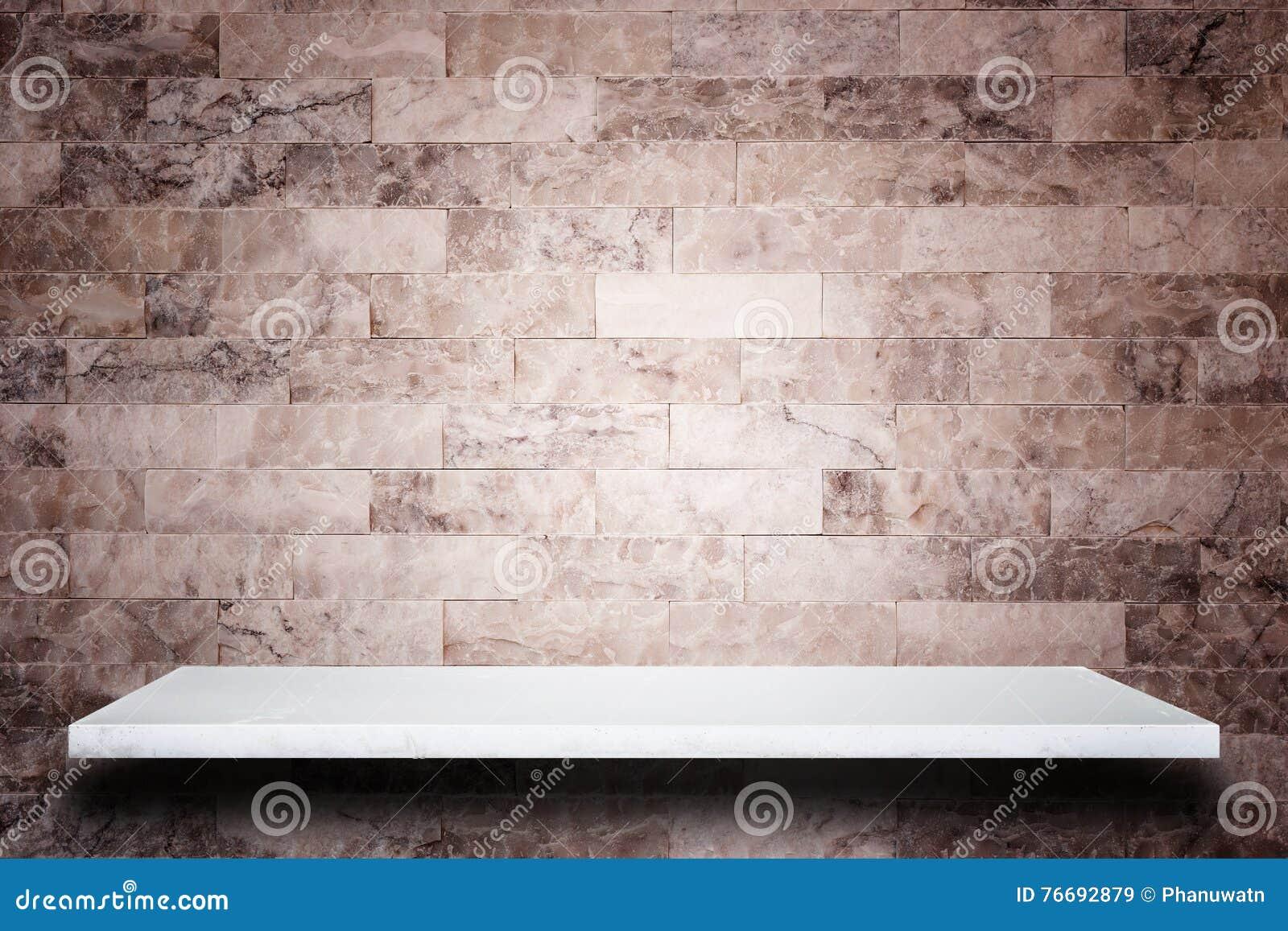Tom överkant av naturlig stenhyllor och bakgrund för stenvägg