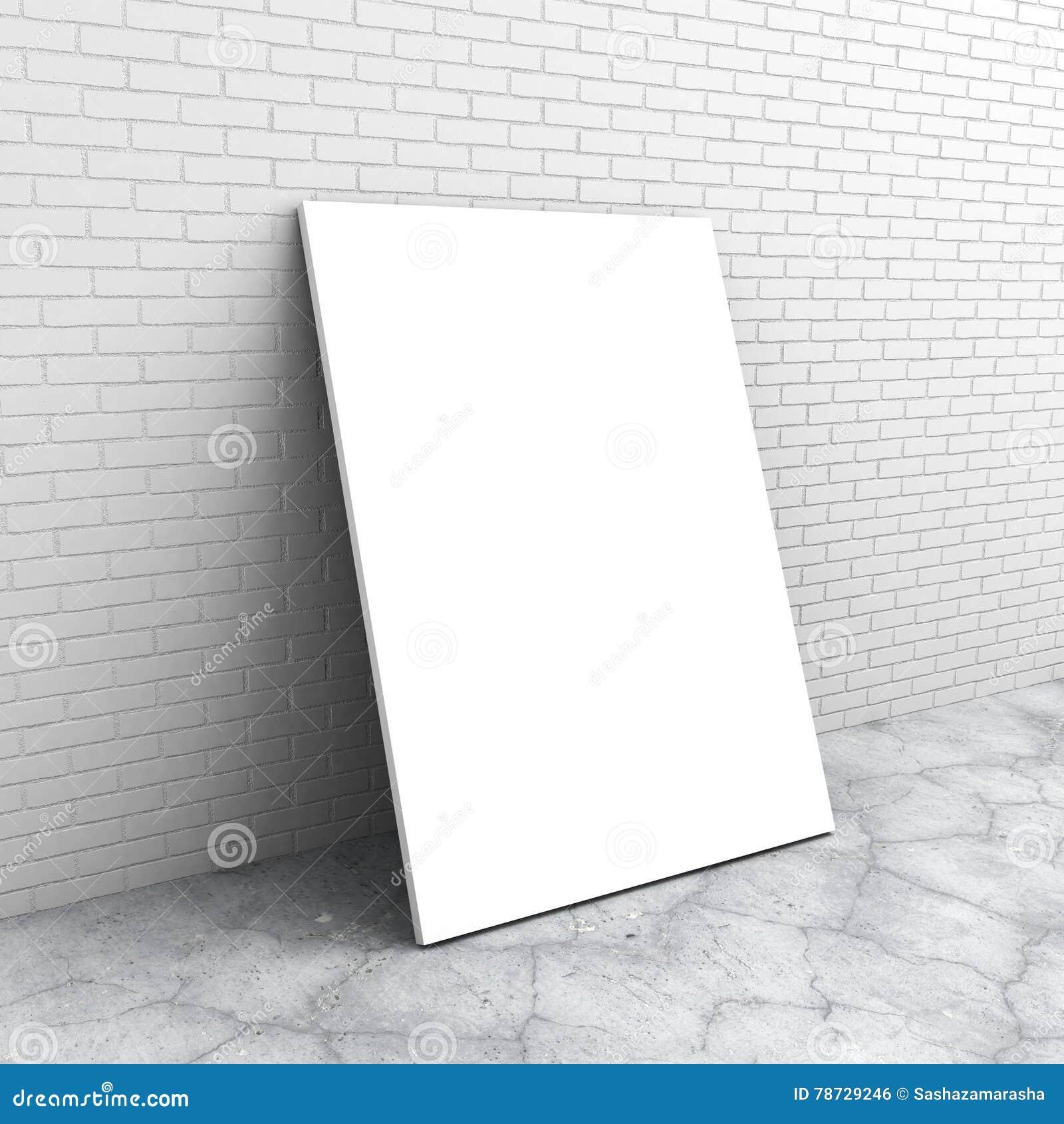 Tom affischaffischtavla Tegelstenvägg, konkret golv