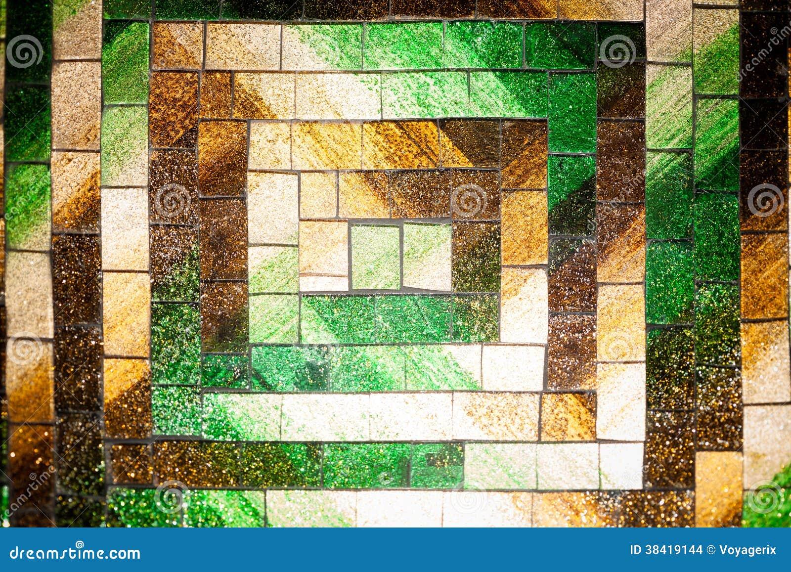 Bloco De Vidro Mosaico Ilustra O Stock Ilustra O De Branco  -> Tijolo De Vidro Marrom