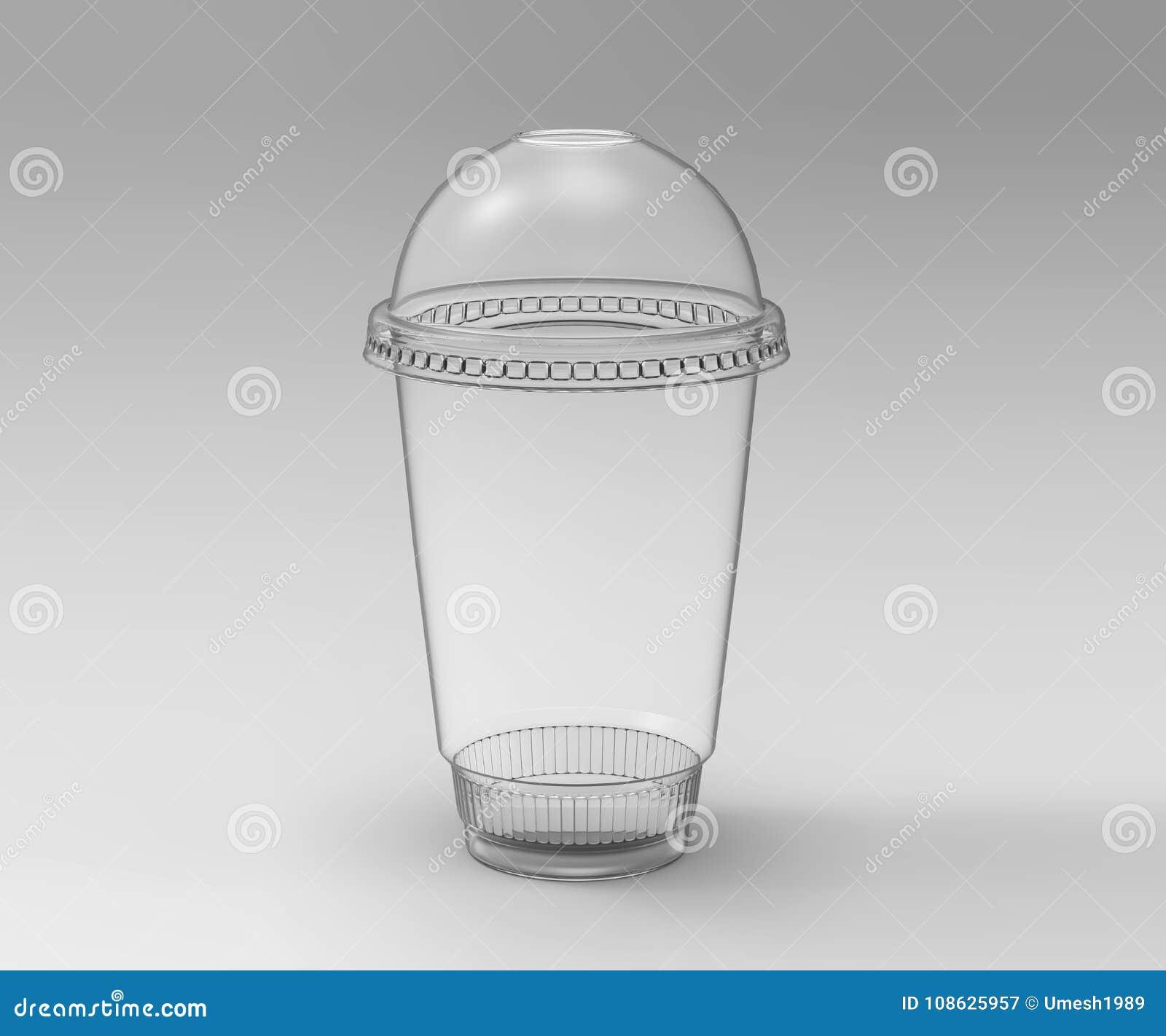 Tom tom disponibel plast- milkshakekopp med locket genomskinligt Behållare för förkylning, varm drink Juice Fresh kaffe, te beträ