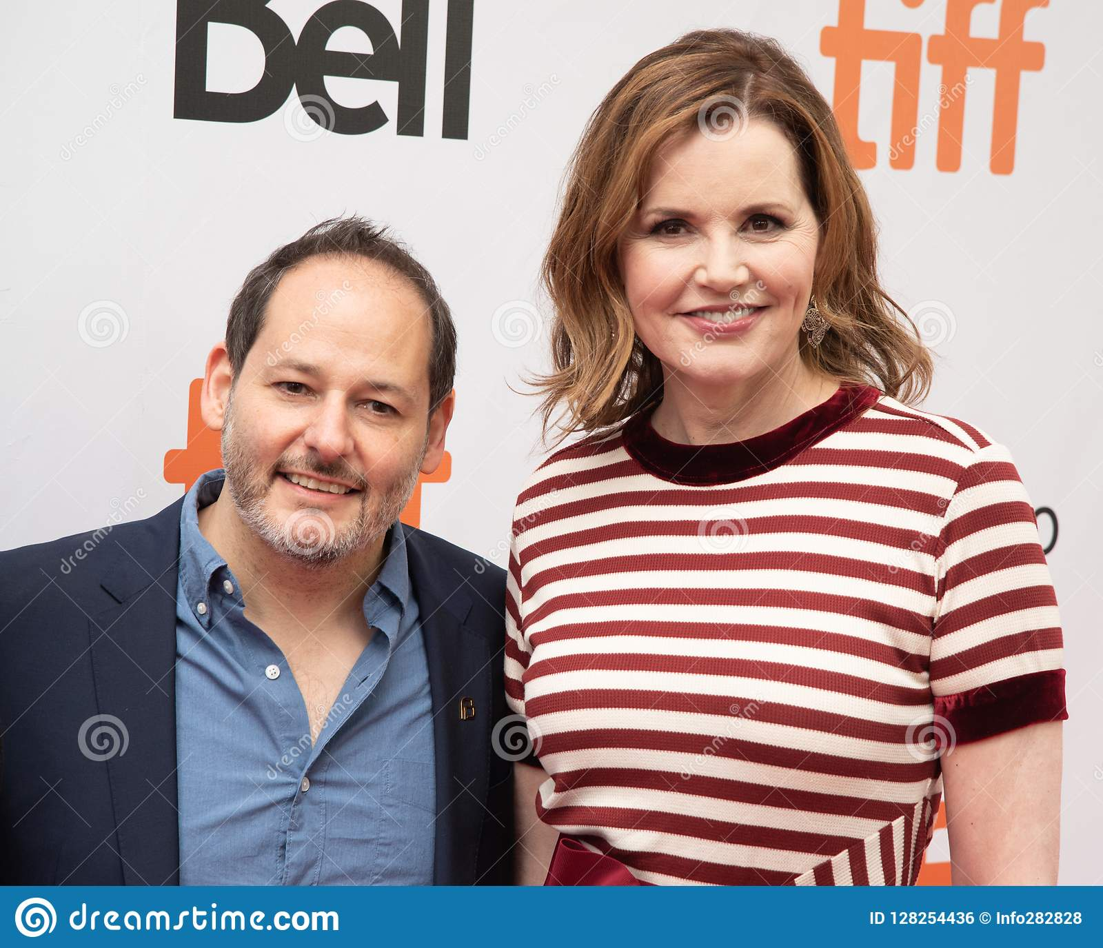 Tom Donahue and Geena Davis at premiere of `This Changes Everything` at TIFF2018