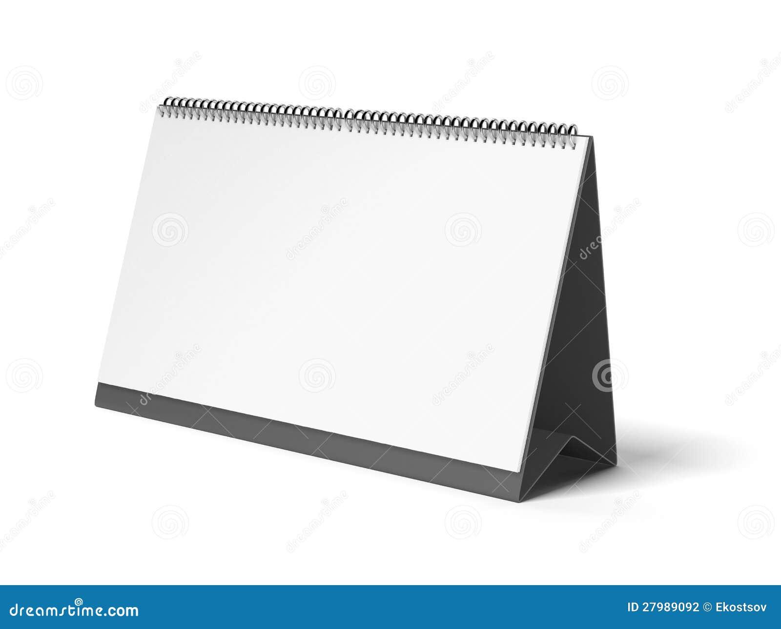 Tom kalender för svart