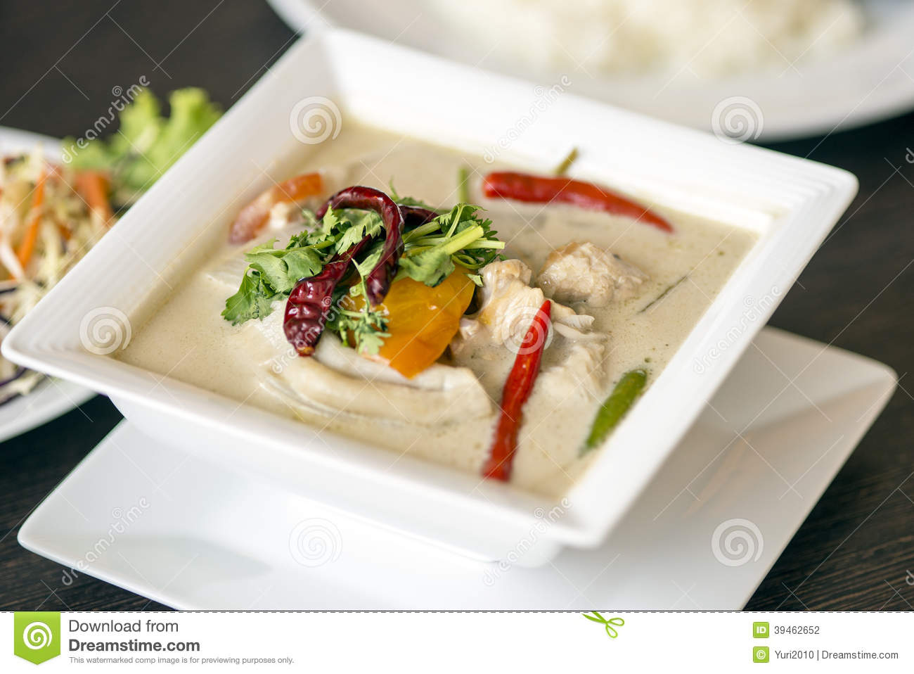 (tom kha kai)-chicken in coconut milk soup