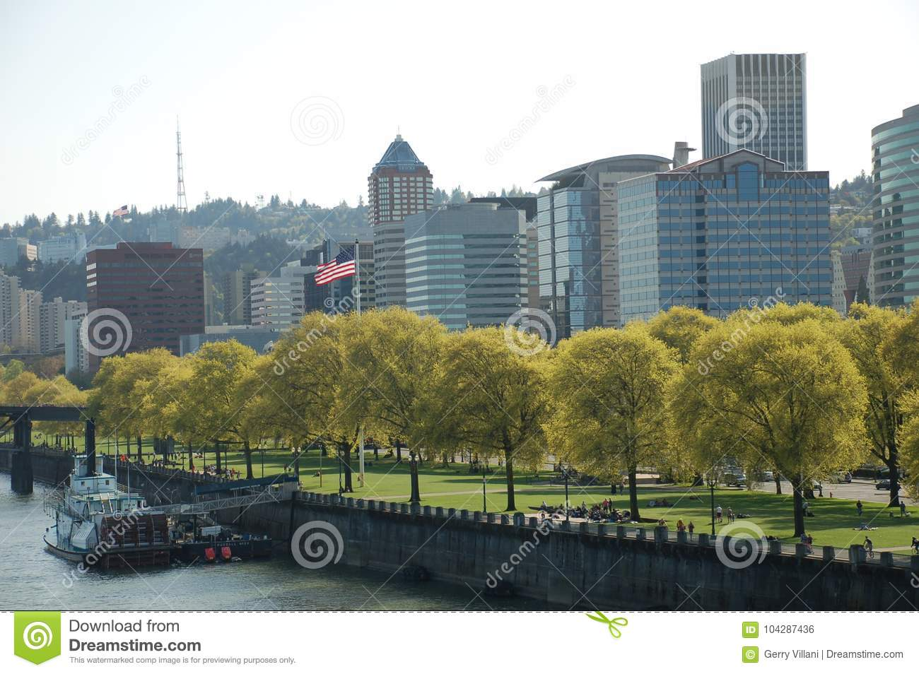 Tom McCall Waterfront Park in Portland, Oregon
