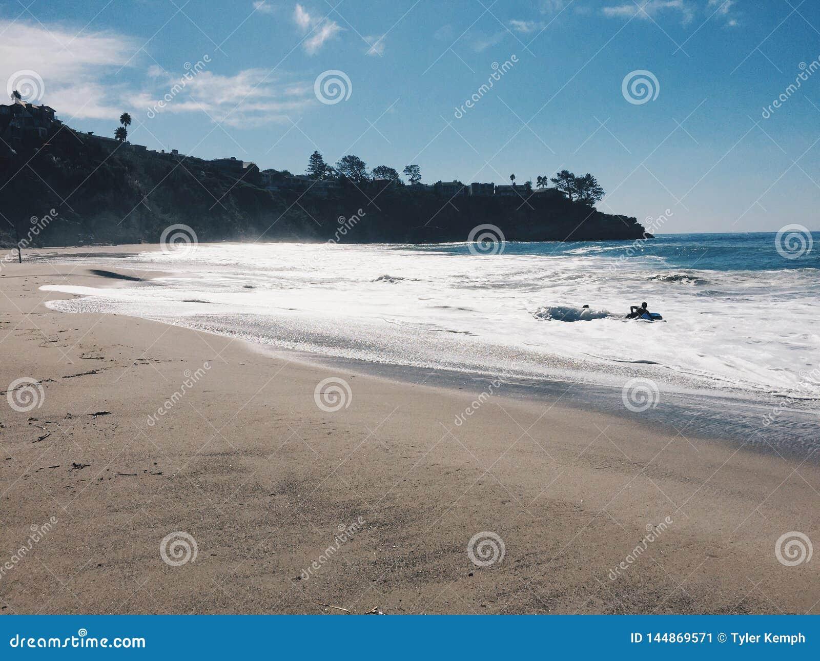 Tom strand i Kalifornien
