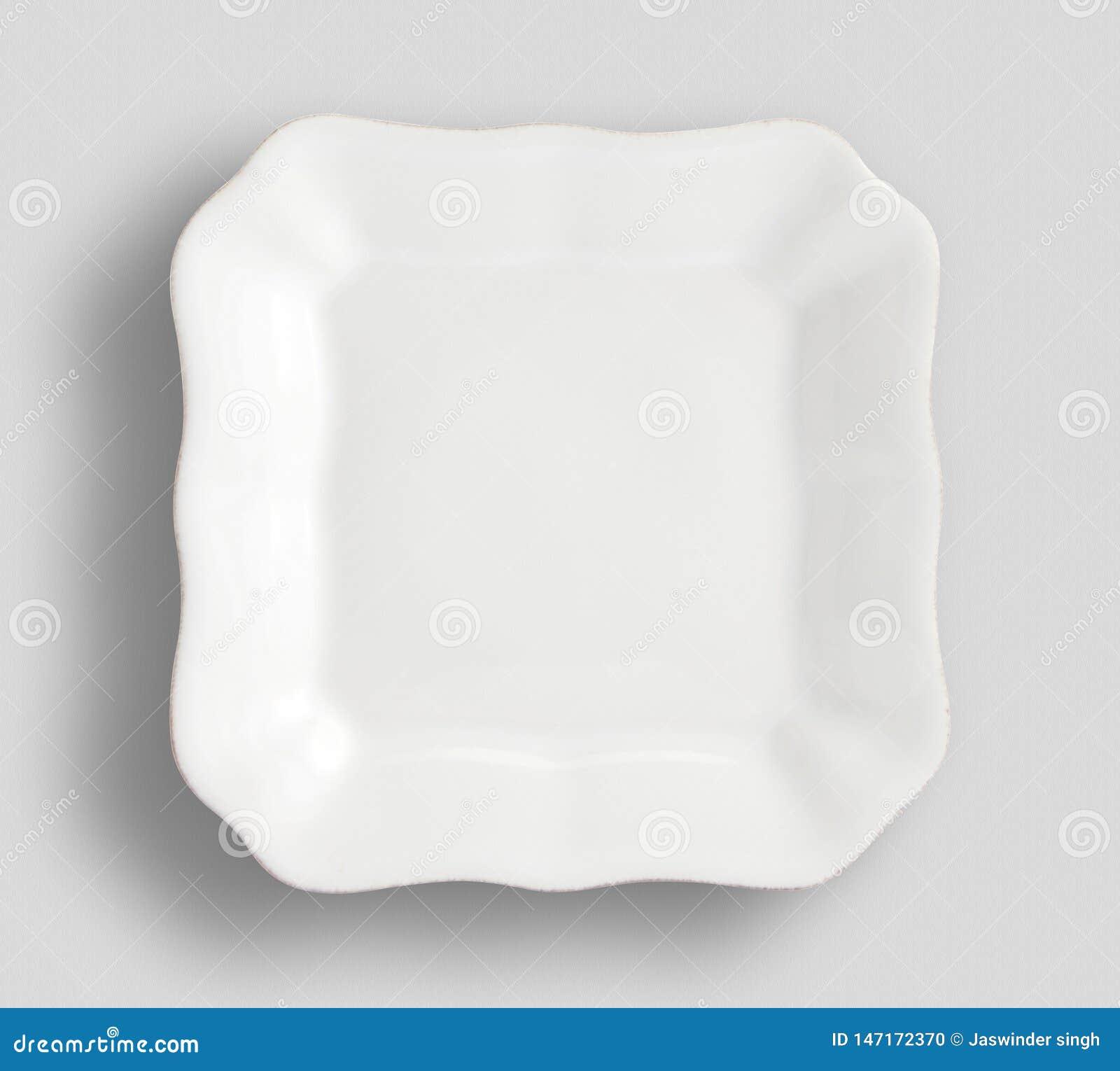 Tom vit rund platta p? vit bakgrund f?r din design, oval vit tom platta som isoleras p? vit bakgrund, tomma vita plommoner