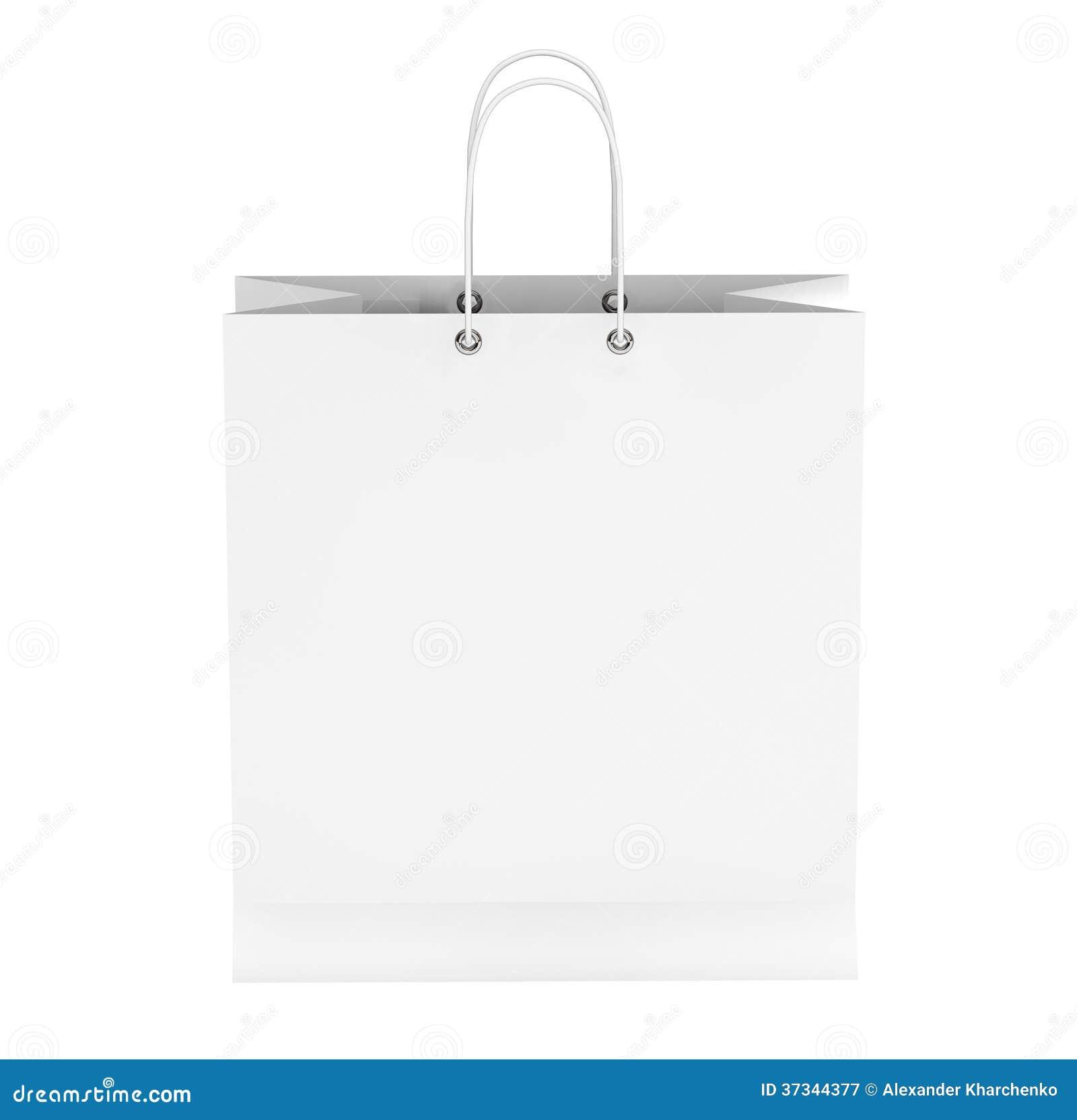 Tom vit shoppingpåse
