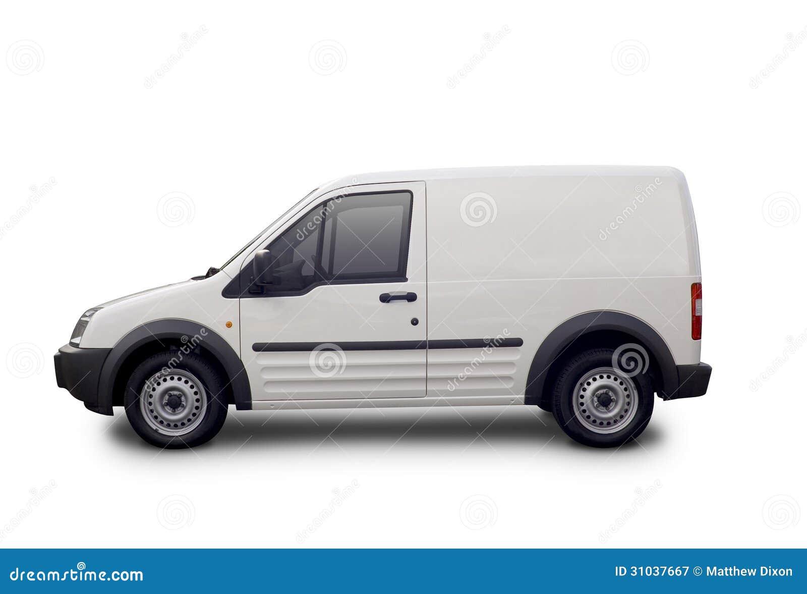 Tom vit skåpbil