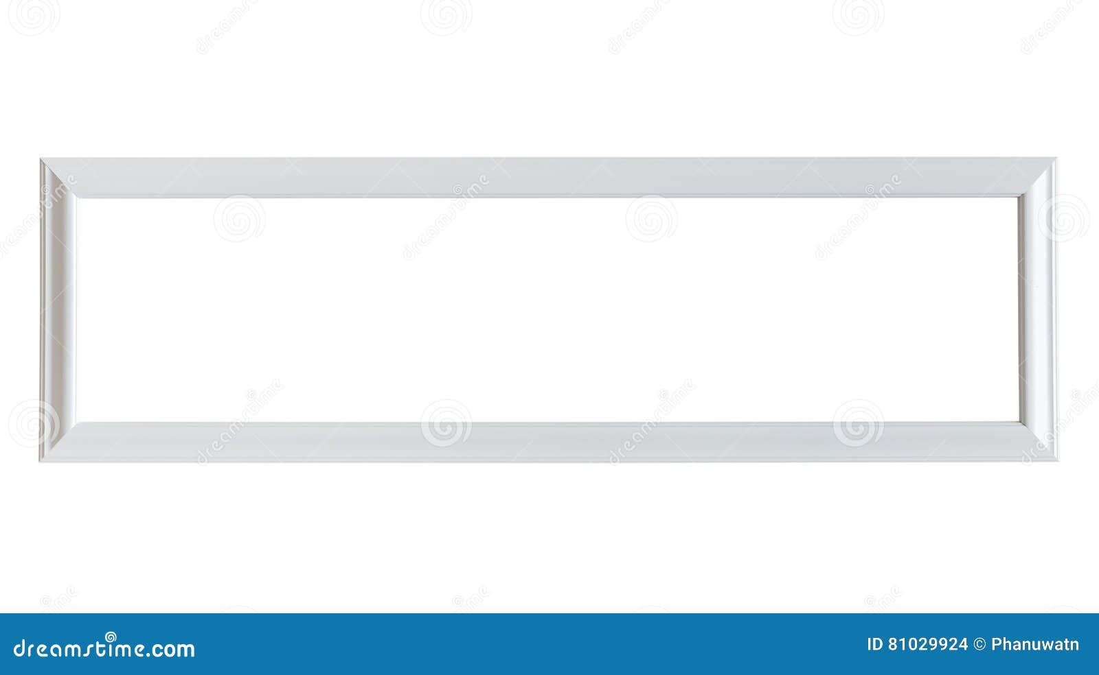 Tom vit träfotoram som isoleras på vit barnteckning på papper
