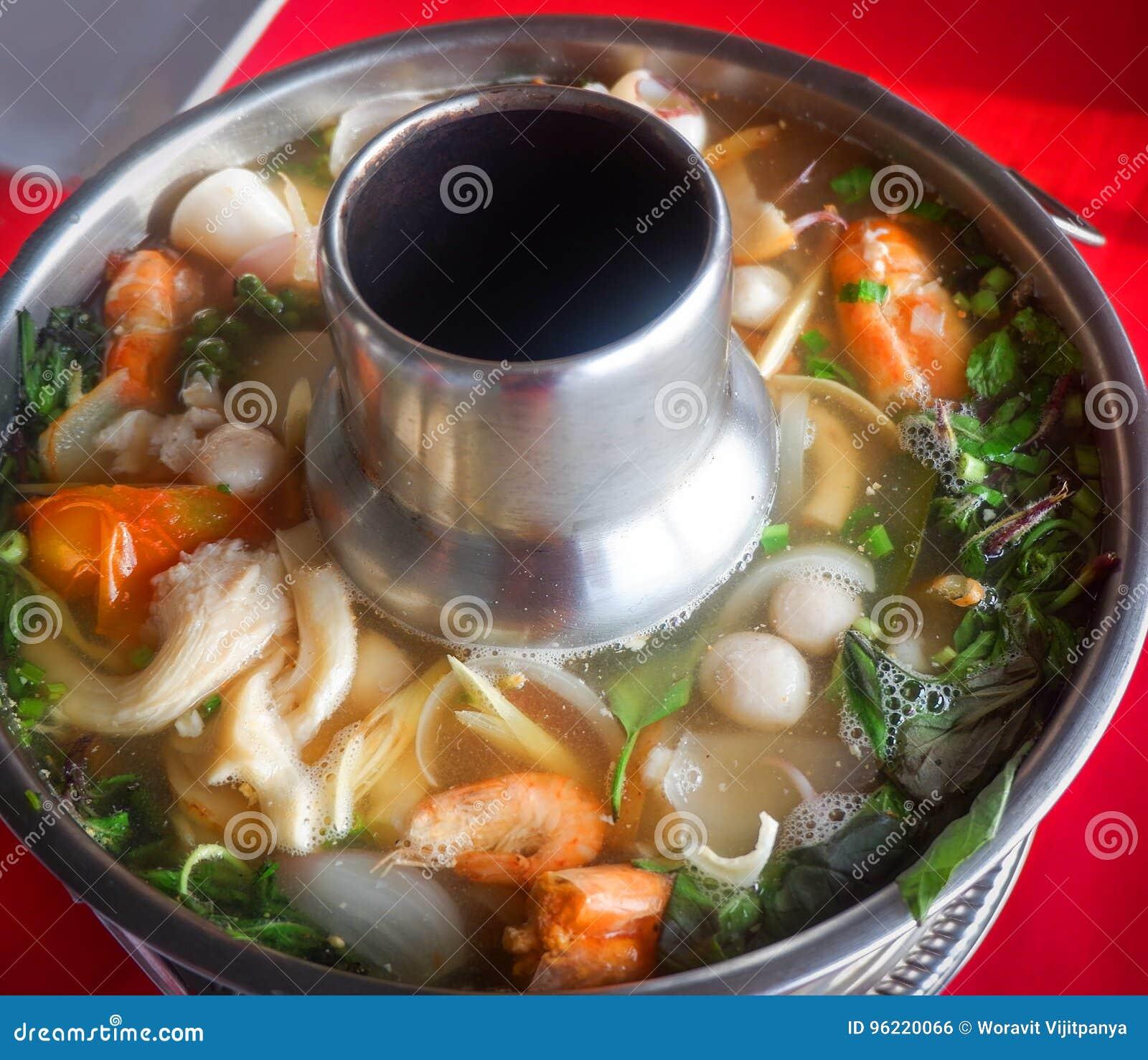 Tom Yum Goong in hot pot
