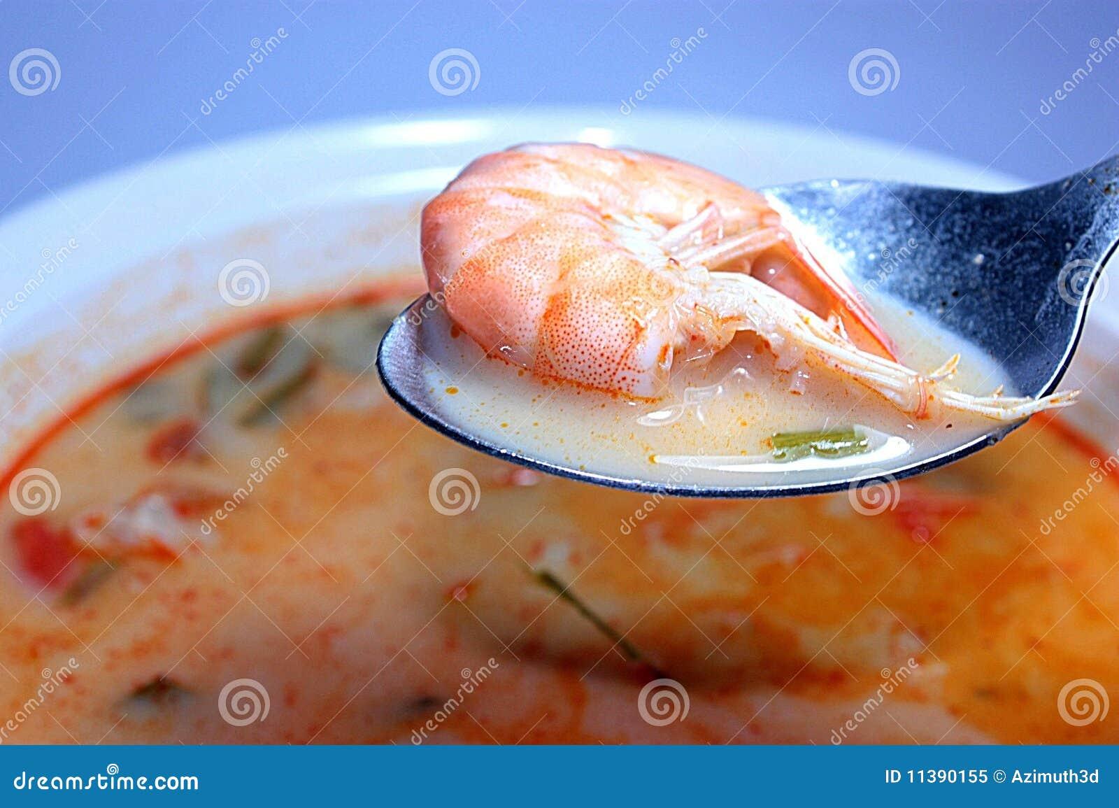Tom Yum Goong (sopa quente do camarão)