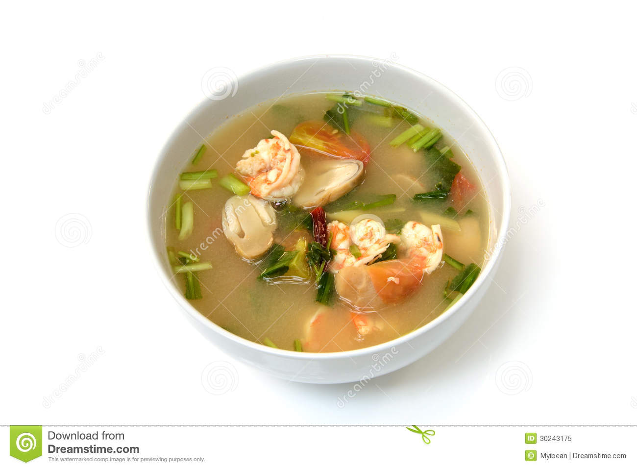 Tom Yum Goong Soup With Shrimp , Thai Food Royalty Free Stock Photo ...