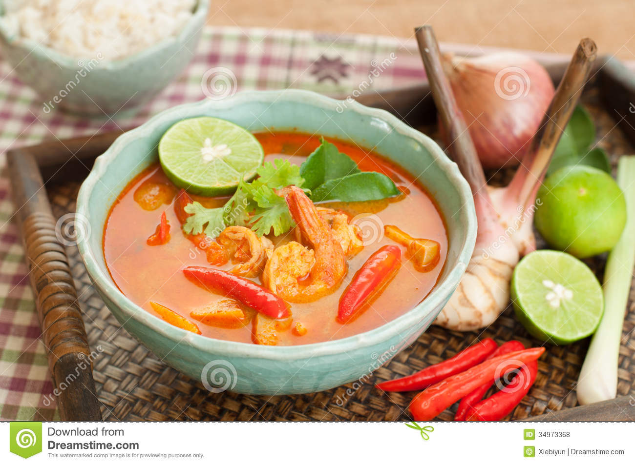 Tom yum goong thai cuisine prawn soup with lemongrass for About thai cuisine