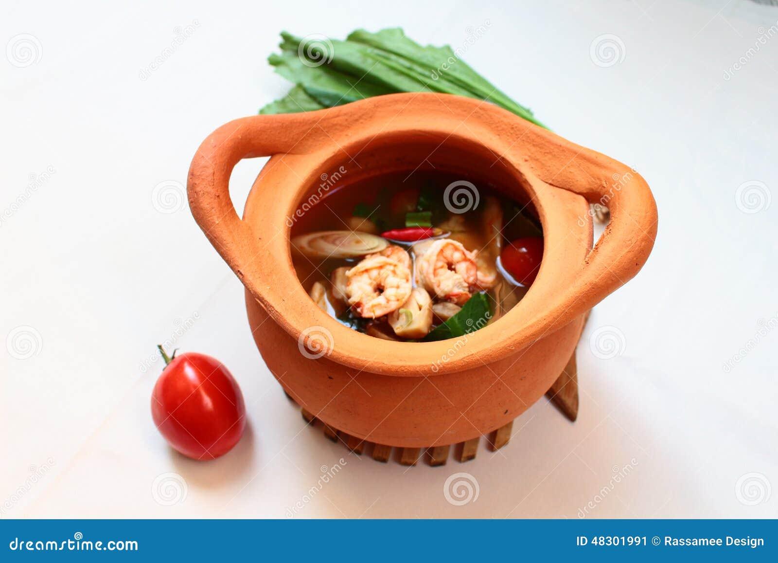 Thai Food Clay Pot