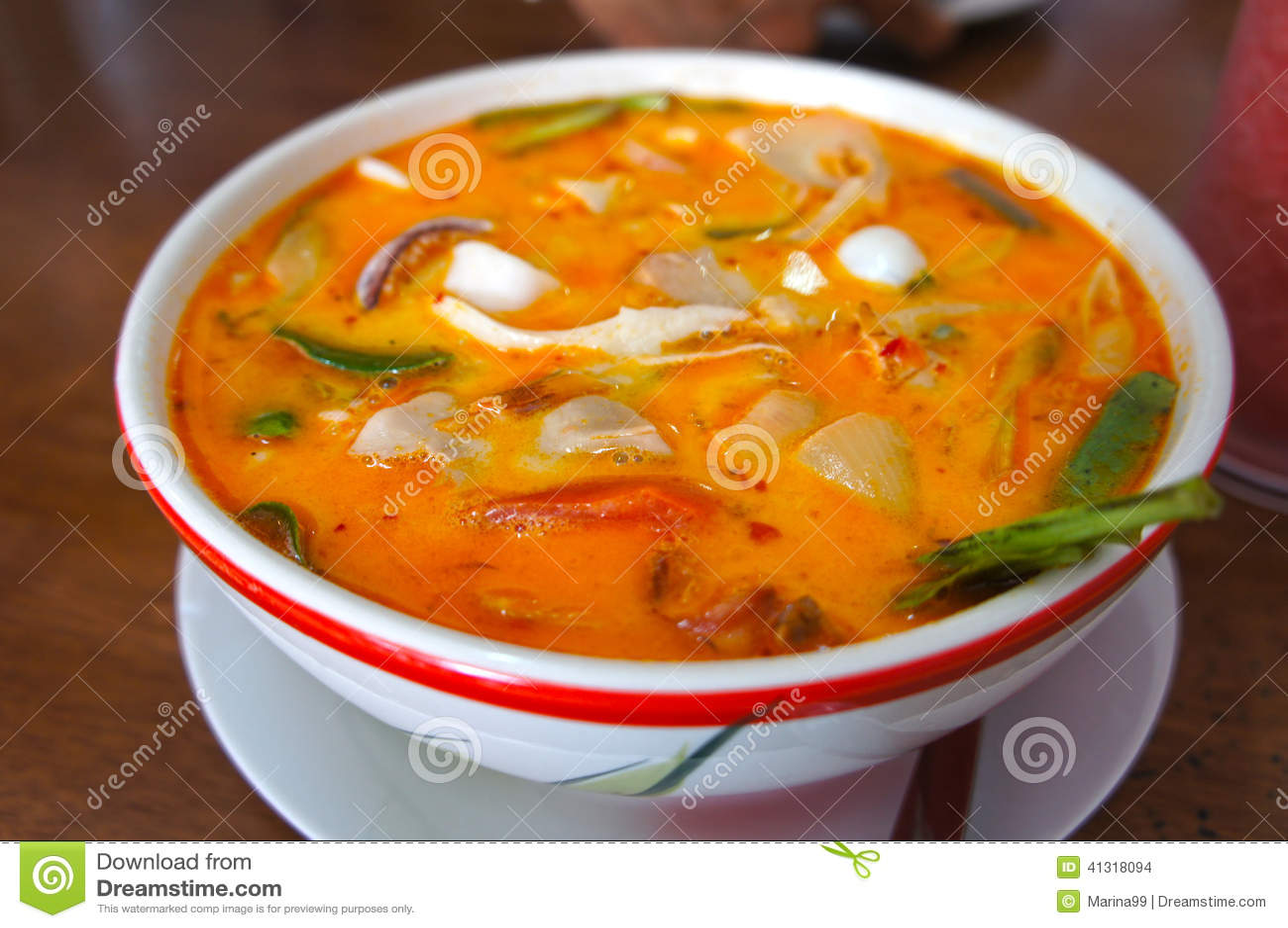 Tom Yum Soup, nourriture thaïlandaise