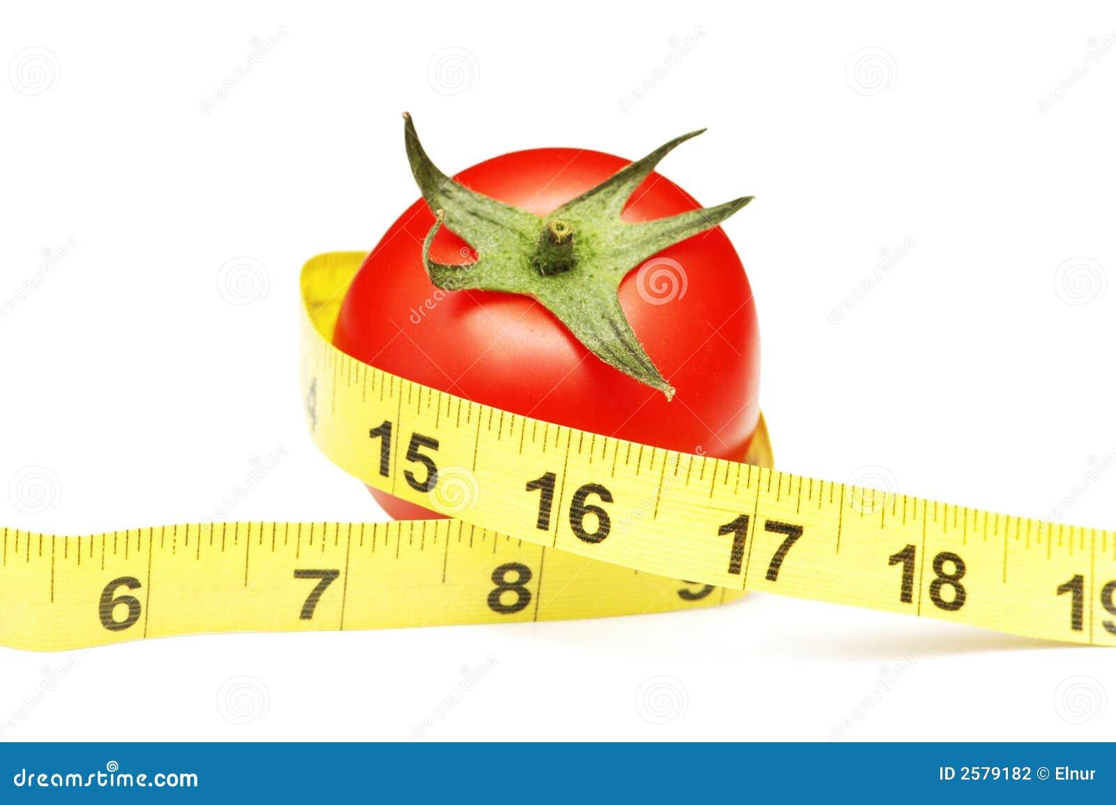 Tomaat en het meten van band