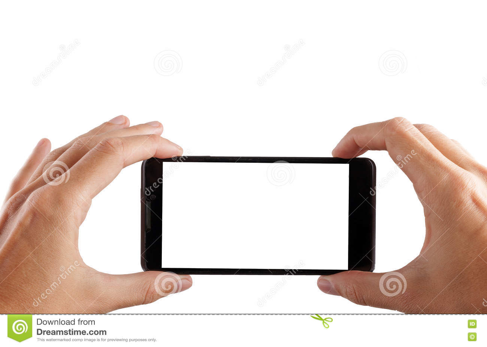 Tomar la imagen con el teléfono móvil, elegante con la trayectoria de recortes para la pantalla