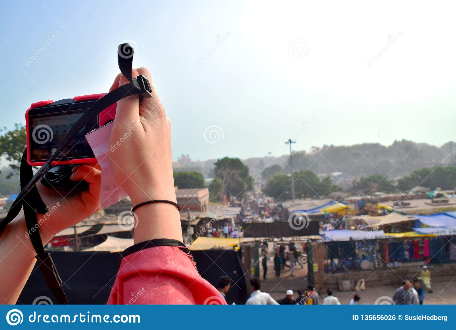 Tomar una foto en la India