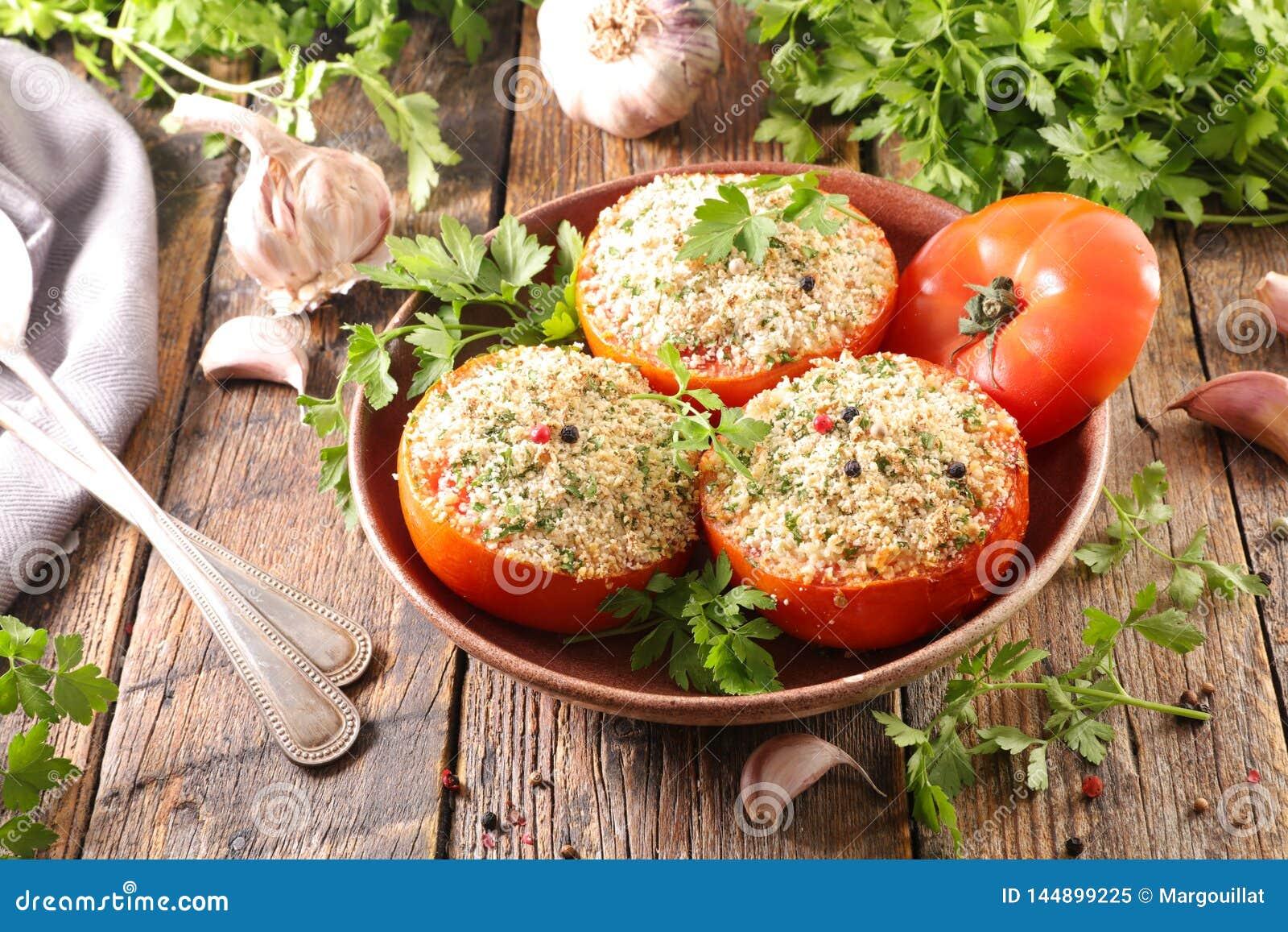 Tomate cuite au four avec la miette