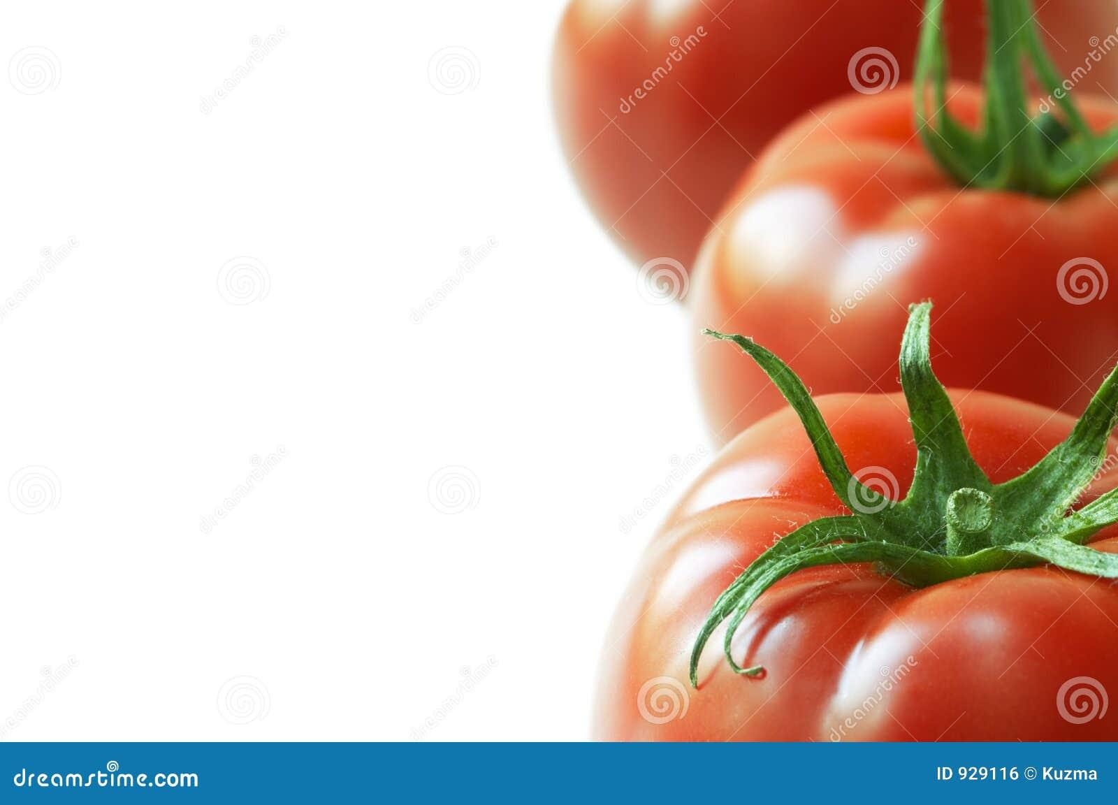 Tomate dans la fin vers le haut