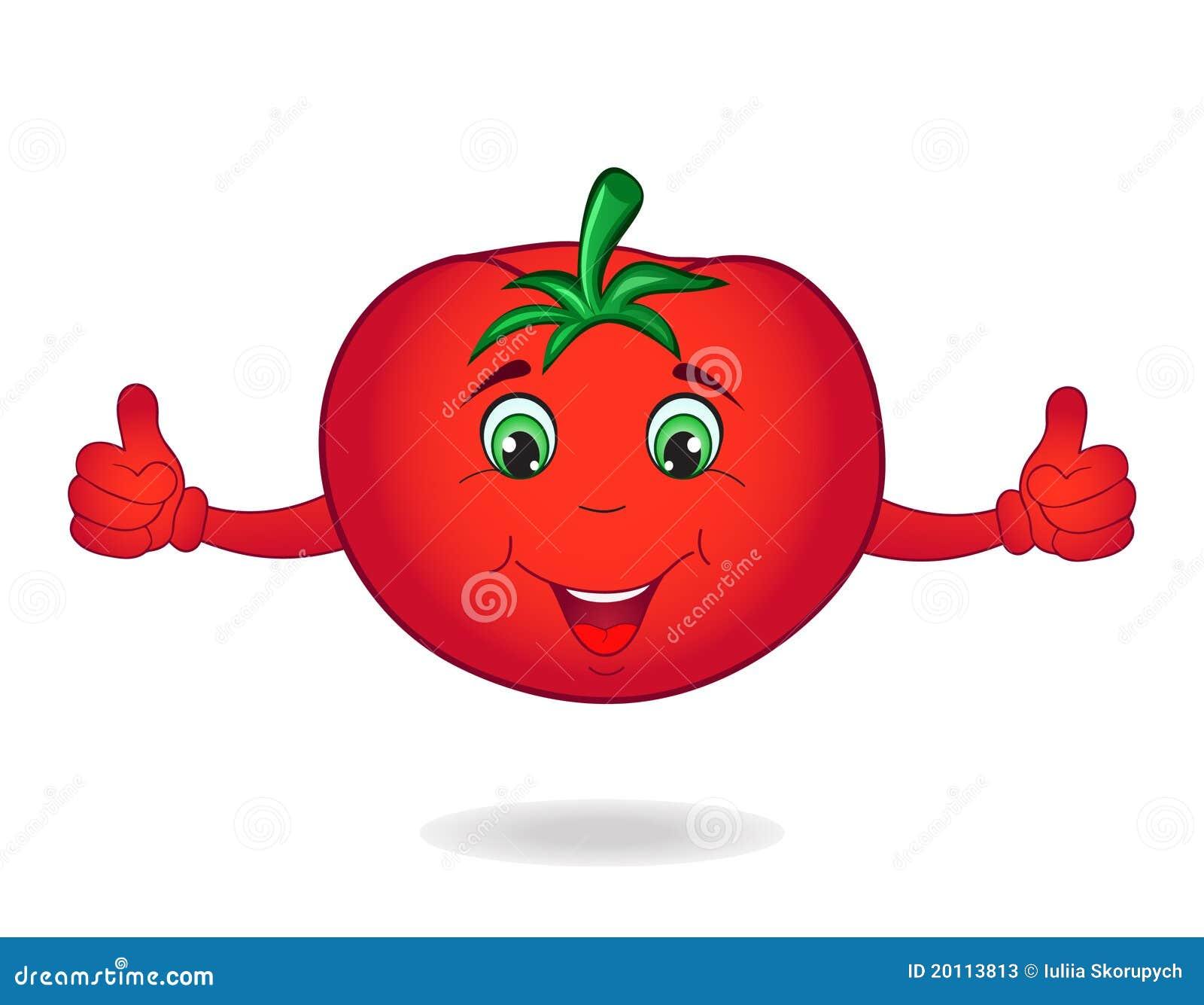 Tomate de dessin anim illustration de vecteur illustration du vert 20113813 - Tomate dessin ...