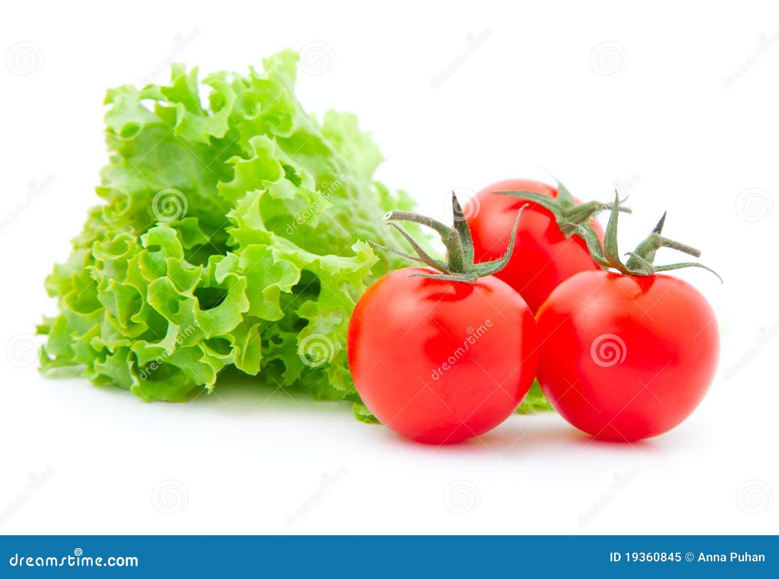 Tomate e alface fresca