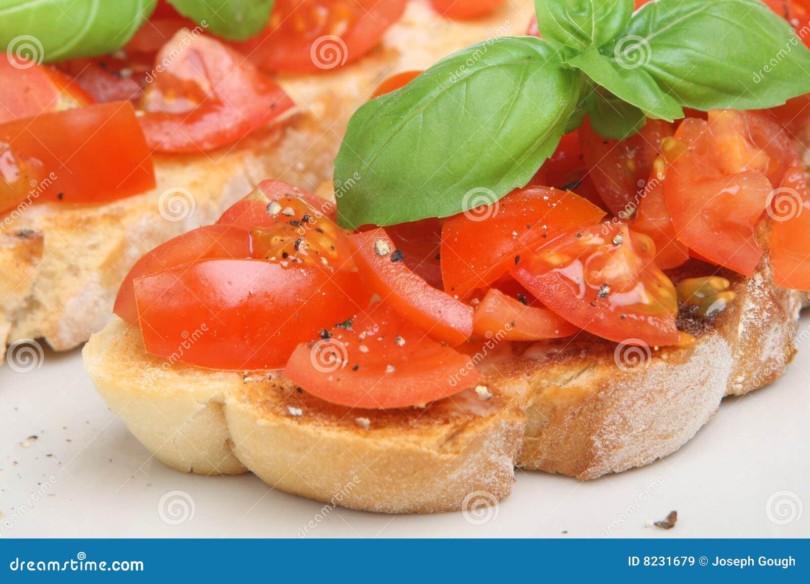 Tomate italienne Bruschetta