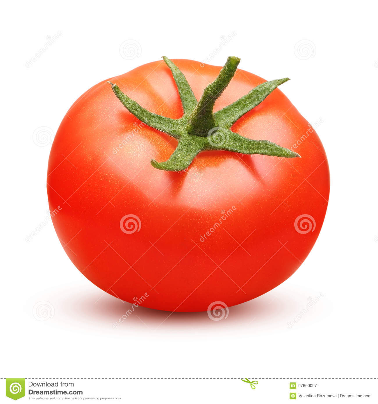 Tomate rouge d isolement
