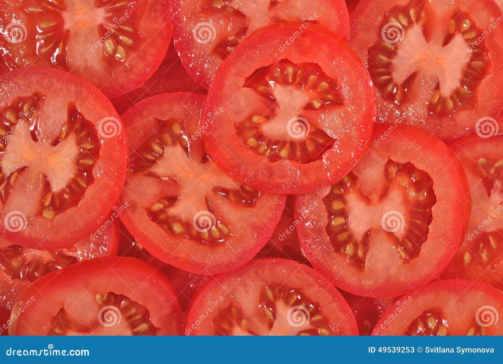 Tomate schneidet Hintergrund