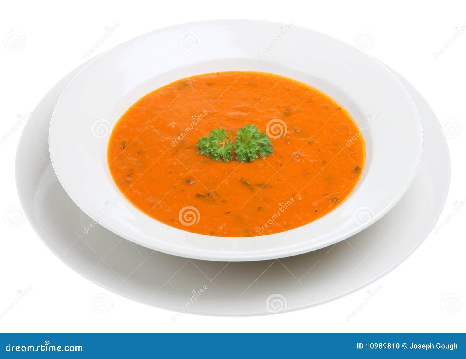 Tomate y sopa de la albahaca
