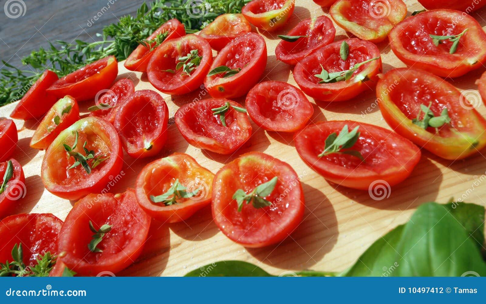 tomaten die in der sonne trocknen stockfotografie bild