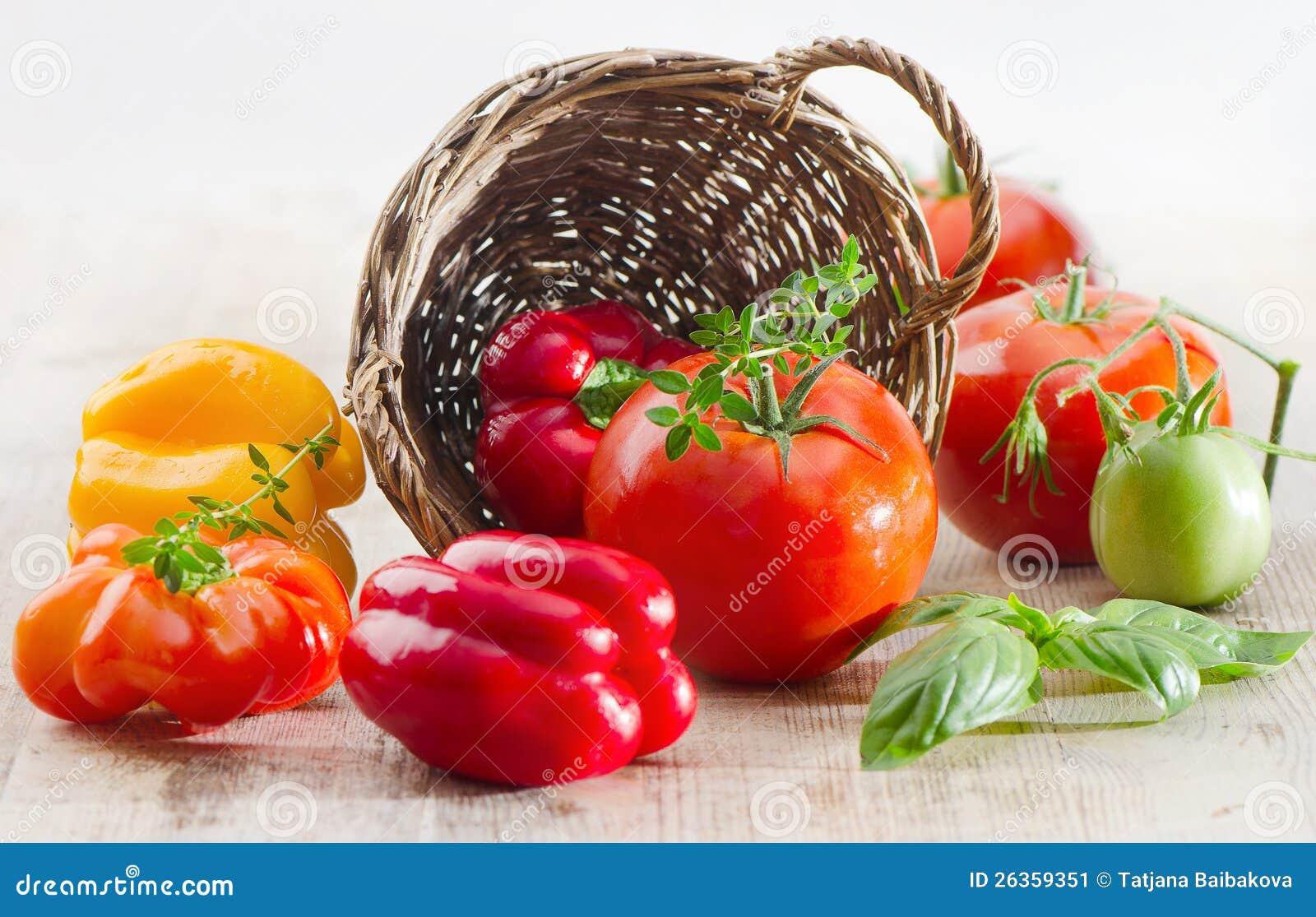 Tomaten und Pfeffer